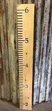 A Rustic Wooden Reclaimed Pine Childrens Height Measuring Wall Chart Ruler