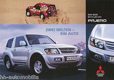 Mitsubishi Pajero Prospekt 4/00 brochure 2000 Auto PKWs Japan Asien Autoprospekt