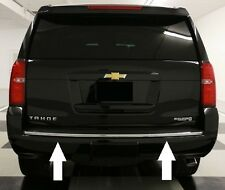 CHROME REAR BUMPER TRUNK TRIM MOLDING For 2015-2016 CHEVY TAHOE SUBURBAN