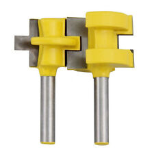 """2 Bit Tongue and Groove Router Bit Set - 1/4"""" ShankWoodworking Tool Chisel Cutte"""