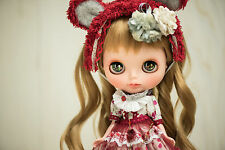 Orig OOAK CUSTOM Blythe Doll Art Kawaii Gothic lolita fashion figure JAPANESE
