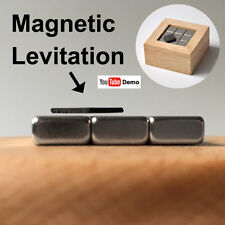 Pyrolytic Graphite Magnetic Levitation WoodBox SET,  Diamagnetic Science Desktoy