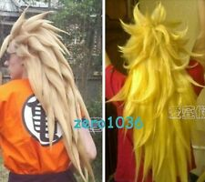 Dragon Ball COS wig New vogue long Mixed blonde Cosplay party Anime wigs unique