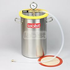 VC25S40 5.2 Gal Degassing Vacuum Chamber Epoxy Silicone Solvent Mold Casting