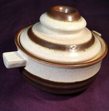 VTG Denby POTTER'S WHEEL RUST BROWN INDIVIDUAL SOUP BOWL COVERED CASSEROLE 4.75""