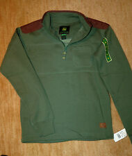 NEW John Deere boys fleece pullover XL quarter zip children sweatshirt green