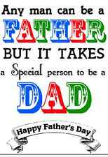 Happy Birthday father dad  card PID123 A5 Personalised Greeting Card