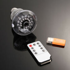 HD LED Light Bulb SPY Hidden Camera Night Vision Motion Detection Remote control