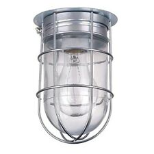 All Weather Wall Barn Ceiling Exterior Light with Cage Outdoor Caged Light