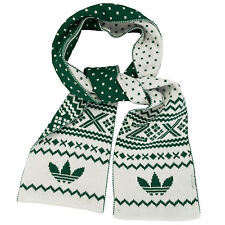 adidas Originals ZX Fairisle Scarf in White Green - One Size From Get The Label