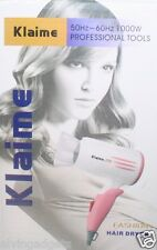 Klaime Salon 1000W Foldable Hair Dryer Blower With Hot Cold Settings