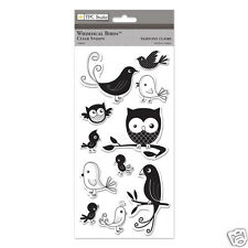 TPC Clear Stamps WHIMSICAL BIRDS Owl Chick Parrot Baby