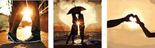 "20X20"" New DIY Acrylic Paint By Number kit Oil Painting Three Parts Sunset Love"