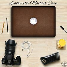 "For MacBook Air 13"" inch LEATHER Hard Shell Skin Cover Case Shield For Air 13.3"""