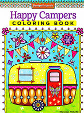 Happy Campers Coloring Book - coloring fun for adults - 30 designs