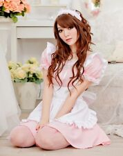 Tame Pink Japanese Maid Party Costume  French Waitress Outfit Uniform