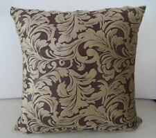 Brown Acanthus Classic Velvet Cushion Cover ~ 45cm