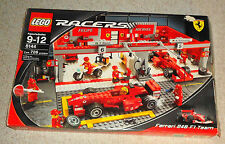 LEGO RACERS 8144 FERRARI 248 F1 TEAM WITH ORIGINAL BOX AND INSTRUCTIONS