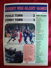Poole Town 2 Corby Town 3 - Corby champions - 2015 - souvenir print