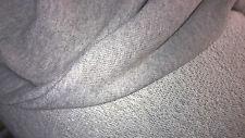 tissu jersey molleton dos bouclettes col gris moyen 50X140  cm