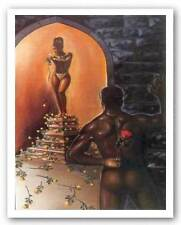 AFRICAN AMERICAN ART PRINT Flower Shower Kevin Williams WAK