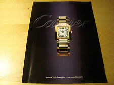 PUBBLICITA' ADVERTISING WERBUNG 2001 OROLOGI MONTRE CARTIER (T)