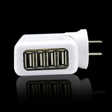 4 USB Ports US Plug 2A Wall Charger Adapter For Mobile Phone Tablet Home& Travel