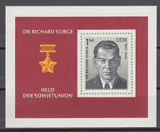 DDR East Germany 1976 ** Bl.44 Persönlichkeit Personalities Dr. Richard Sorge