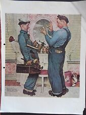 "Norman Rockwell Print Illustrations ""The plumber's"" 1951"