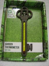 Garden thermometer in Cast Iron novelty vintage door key small