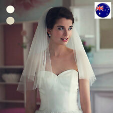 Lady Ivory creamy white Bride Hen's Night Prop Wedding Hair head Veil WITH COMB