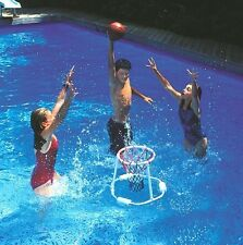 Super Hoops Floating Basketball Game Net Ball Pool Toy Water Play Swimline 9162