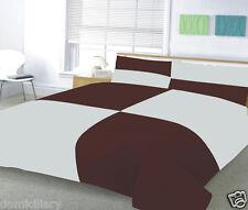 Duvet Cover + Pillow Case Bed Set Quilt Cover Single Double & King Size Plain