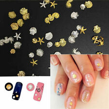 3D Nail Art Decoration Ocean Alloy Jewelry Glitter Rhinestones + Wheel
