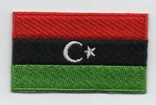 Embroidered LIBYA Flag Iron on Sew on Patch Badge HIGH QUALITY APPLIQUE