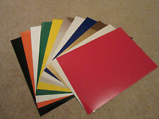 PACKS OF 11$ STICKY BACK PLASTIC, VARIOUS COLOURS. SELF ADHESIVE VINYL A4.