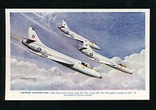 Aviation Military RAF air force HAWKER HUNTER Artist Bannister c1950/60s? PPC
