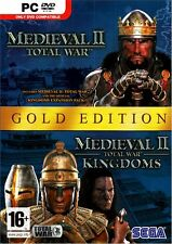 Medieval 2 II Total War with Kingdoms Expansion PC Brand New Sealed