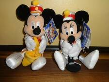 Mickey and Minnie Mouse Plush Keychain  Hong Kong 3rd Anniversary Marching Band