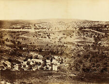 1857/58, Francis Frith, JERUSALEM from Mount Olives, MAMMOTH albumen photograph