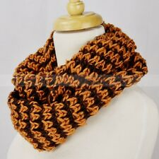 Multi Color Knit Infinity Winter Scarf Elastic Warm Striped Circle Loop Cowl