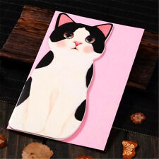 Cats B Holiday Greeting Cards Korea Message Memo Card X'mas Gift 1pc ♫