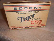 Vintage Socony Tiger Brand Stove Wick #666 in Original Box