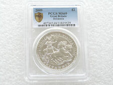 2009 Royal Mint British Britannia £2 Two Pound Silver 1oz Coin PCGS MS69