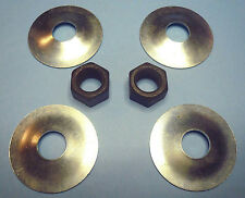 "Set of (4) Grinder / Saw Arbor Washers 1/2"" Bore 1-3/4"" OD + (2) 1/2-20 Nuts New"