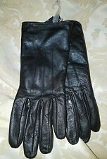 Isotoner Womens Signature Smartouch Leather Dress Gloves Brown