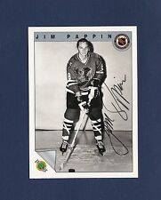 Jim Pappin signed Chicago Blackhawks 1992 Ultimate Original 6 hockey card