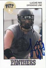 LUCAS NIX Autographed Signed 2008 card Pitt Pittsburgh Panthers COA