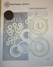 1971 Gottlieb 4 Square Pinball Machine Rubber Ring Kit - aka Four Square