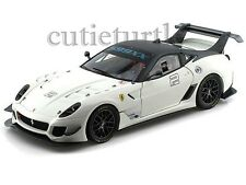 Hot wheels Mattel Elite Ferrari 599XX 599 XX EVO 1/18 Diecast BCJ92 White #2